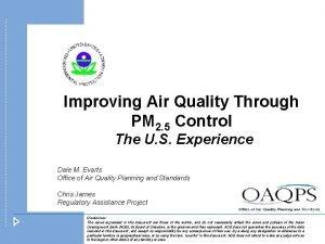 Improving Air Quality Through PM 2 5 Control