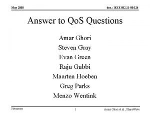 May 2000 doc IEEE 802 11 00126 Answer