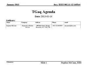 January 2013 doc IEEE 802 11 121455 r