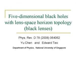 Fivedimensional black holes with lensspace horizon topology black