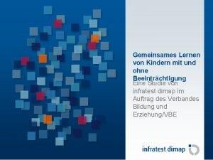 Gemeinsames Lernen in Deutschland Gemeinsames Lernen von Kindern