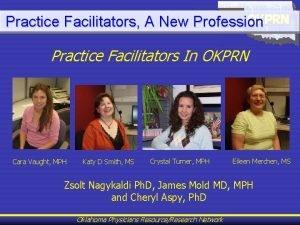 Practice Facilitators A New Profession Practice Facilitators In