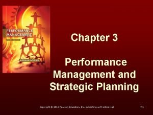 Chapter 3 Performance Management and Strategic Planning Copyright