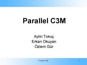 Parallel C 3 M Aylin Toku Erkan Okuyan