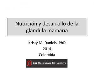 Nutricin y desarrollo de la glndula mamaria Kristy