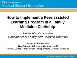 How to Implement a Peerassisted Learning Program in