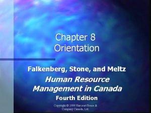 Chapter 8 Orientation Falkenberg Stone and Meltz Human