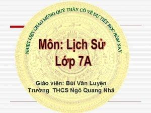 Gio vin Bi Vn Luyn Trng THCS Ng