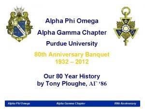 Alpha Phi Omega Alpha Gamma Chapter Purdue University