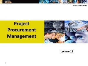 www hndit com Project Procurement Management Lecture 13