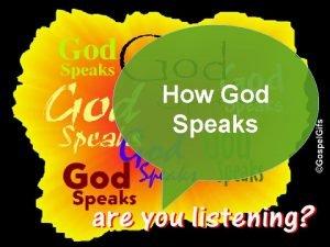 How God Speaks Hebrews 1 1 3 v