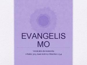 EVANGELIS MO Versculos de memoria 1 Pedro 3