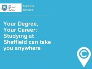 Careers Service Your Degree Your Career Studying at