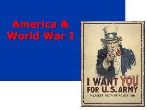 America World War I w MAIN Causes of