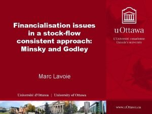 Financialisation issues in a stockflow consistent approach Minsky