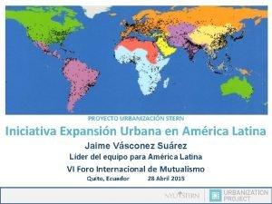 PROYECTO URBANIZACIN STERN Iniciativa Expansin Urbana en Amrica