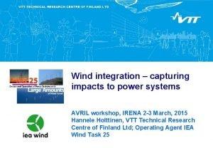 VTT TECHNICAL RESEARCH CENTRE OF FINLAND LTD Wind