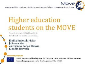 Higher education students on the MOVE Preconference MOVE