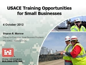 USACE Training Opportunities for Small Businesses 4 October
