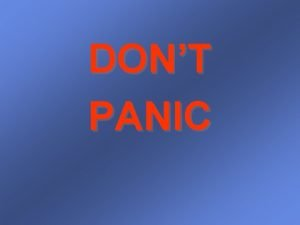 DONT PANIC Implicit Surface Animation and stuff Implicit