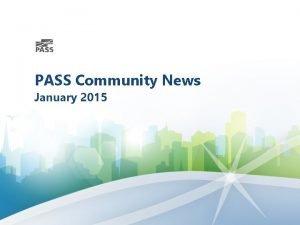 PASS Community News January 2015 PASS Virtual Chapters