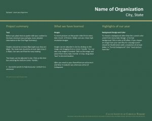 Name of Organization Optional insert your logo here