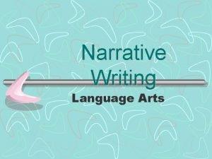Narrative Writing Language Arts What is Narrative Writing