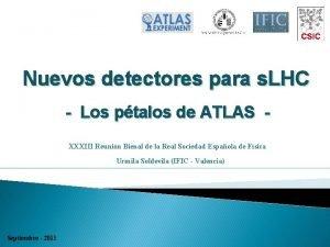 Nuevos detectores para s LHC Los ptalos de