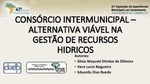 CONSRCIO INTERMUNICIPAL ALTERNATIVA VIVEL NA GESTO DE RECURSOS