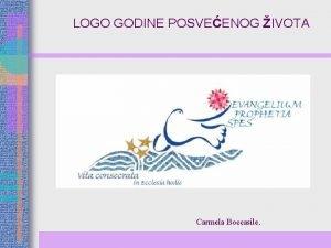 LOGO GODINE POSVEENOG IVOTA Carmela Boccasile GODINA POSVEENOG