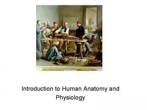 Introduction to Human Anatomy and Physiology In 2007