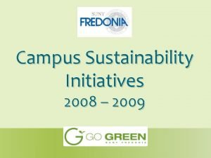 Campus Sustainability Initiatives 2008 2009 Sustainability Subcommittees Recycling