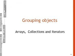 Grouping objects Arrays Collections and Iterators 1 0