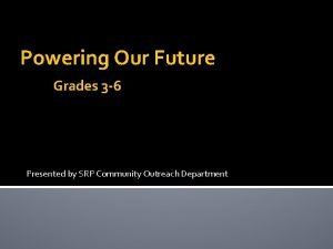 Powering Our Future Grades 3 6 Presented by