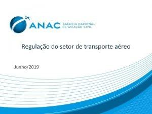 Regulao do setor de transporte areo Junho2019 Contexto