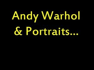 Andy Warhol Portraits Andy Warhol SelfPortrait 1986 Andy