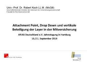 Univ Prof Dr Robert Koch LL M Mc