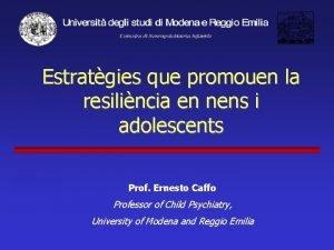 Estratgies que promouen la resilincia en nens i