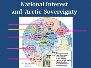 National Interest and Arctic Sovereignty National Interest and