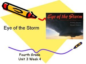 Eye of the Storm Fourth Grade Unit 3