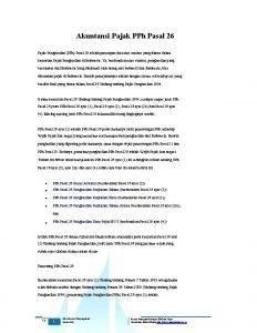 Akuntansi Pajak PPh Pasal 26 Pajak Penghasilan PPh