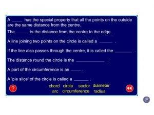 Circle parts F Area of a circle Formula