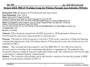 Sept 2003 doc IEEE 802 15 03xxxr 0