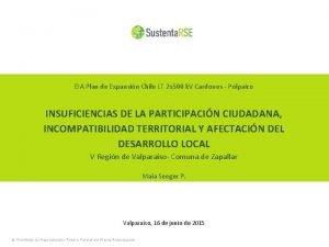 EIA Plan de Expansin Chile LT 2 x