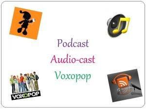 Podcast Audiocast Voxopop Pod Cast Pod Portable device
