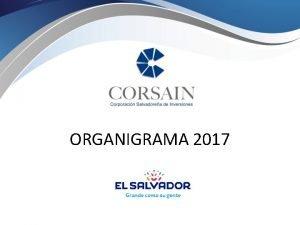 ORGANIGRAMA 2017 ESTRUCTURA ORGANIZATIVA CORSAIN 2017 Asamblea de