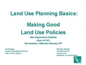 Land Use Planning Basics Making Good Land Use