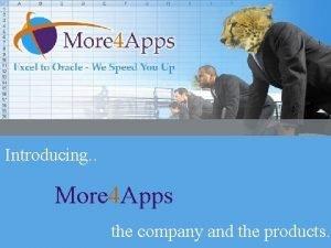Introducing More 4 Apps Introducing More 4 Apps