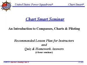 United States Power Squadrons Chart Smart Seminar An