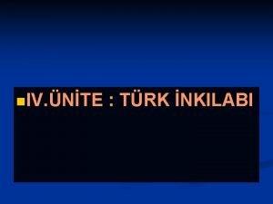 n IV NTE TRK NKILABI A TRK NKILABININ